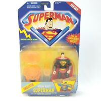 1996 NOS Kenner Superman Deluxe Vision Blast Action Figure from WB Animated Show