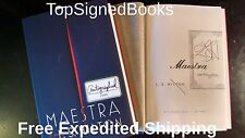 SIGNED Maestra by L. S. Hilton, hardcover, autographed, new