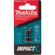 Makita A-96534 Impactx 3 Square Recess 1″ Insert Bit, 2 Pack