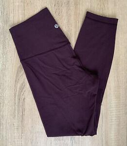 """Lululemon Purple Mulberry Align Leggings 25"""" 6 US 10-12 UK Yoga Gym Workout 7/8"""
