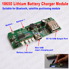 USB 5V 1A 18650 Battery Charger Module Mobile Power Bank for Phone Bluetooth DIY