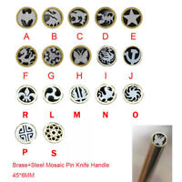 Mosaic Rivets Pin Knife Handle Brass+Steel Tube Frame Brooch Material 6mm 45mm