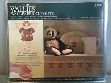 """Wallies Wall Paper Cut Outs 25 Debbie Mumm Star Angel 5"""" Pre-pasted Washable"""