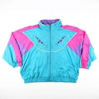 Vintage Blair Btq  Blue 80s Classic Casual Shell  Jacket Womens 2XL