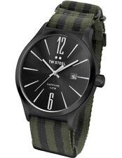 TW Steel 45mm Slimline Army Green and Black Strap Mens Watch Tw1319.