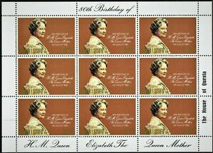 SAMOA.1980.QUEEN MOTHER 80th BIRTHDAY.MINI SHEET.X 10. MNH.AS IS SEE SCAN.