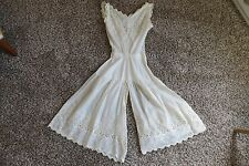 Vintage White Eyelet Cotton Edwardian All in One Combination Undergarment