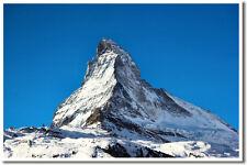 Matterhorn Mountain Alps Europe Travel Print POSTER