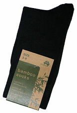 3 PAIRS SZ 3-8 AUSTRALIAN MADE WOMENS BLACK BAMBOO DRESS SOCKS