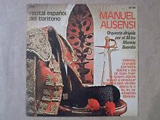 Manuel Ausensi_recital espaniol del baritono LP