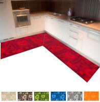 Tappeto cucina angolare o corsia su misura al metro tessitura 3D antisporco casa