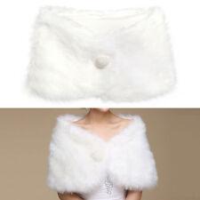 Accessoires blanc en fourrure synthétique pour la mariée