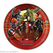 8 MARVEL'S AVENGERS 2 età di ULTRON Supereroe party monouso 20cm carta PIASTRE