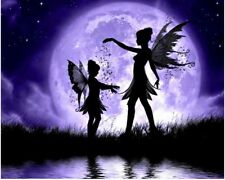 5D 3D Moonlight Fairies Embroidery Cross stitch Mosaic Diamond Painting kit