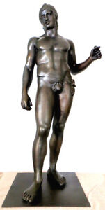 Große Bronze Skulptur aus griechischer Mythologie braun patiniert 100% Bronze