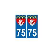 75 Paris autocollant plaque blason armoiries stickers département arrondis