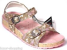 Neu GEOX Mädchen Leder G.30 Klett- Sandalen beige rosa Kinder Schuhe Sandaletten