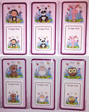 FRIDGE MAGNET with NOTEPAD - Cute Animal Impressions - NOVELTY MAGNETIC GIFT