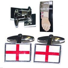 St Georges England Flag Cufflinks on Display Card X2PSN082F