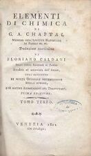 ELEMENTI DI CHIMICA di  G. A. Chaptal TOMO III 1801 Venezia I prima edizione