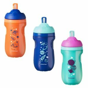 Tommee Tippee Baby Toddler Active Insulated Straw Drink Drinking Cup 12m+