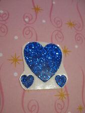vintage 80's Sticca sparkly blue heart sticker module