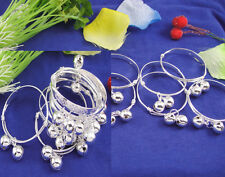 5Pairs Silver Baby Children Bracelet Bangles Kids Anklets Wholesale