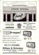 Aberdeen Home Team Pre-Season/Friendly Football Programmes