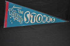1960'S THE ROLLING STONES CONCERT PENNANT MICK JAGGER BABY BLUE WITH RED  TRIM