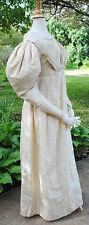 ANTIQUE DRESS 1830's SILK TAFFETA DRESS ALL HAND STITCHED MUSEUM DE-ACCESSION