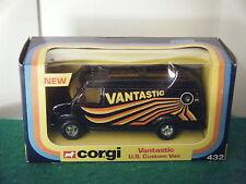 """Corgi No: 432 """"Chevrolet U.S.Custom Van VANTASTIC"""" - Black (Original 1977)"""