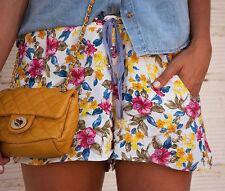 ZARA floral d'été décontracté shorts taille S Small