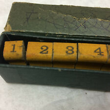 Vintage Number Stampers For Grocery Store Pricing
