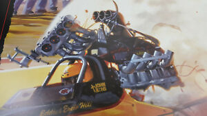 """Kenny Youngblood 22""""X22"""" poster art of Eddie Ercie Hill Y2 KaBoom Fuel Dragster"""
