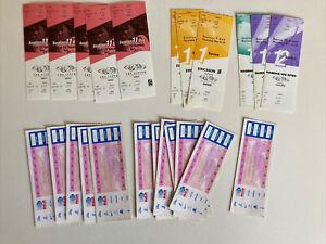 Tennis 22 Ticket Stub Lot The Lipton Championships Ericsson Nasdaq 1997-2002