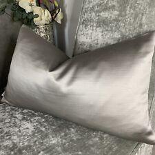 "Cushion Cover 12""x20"" Esther Designer iLiv Fabric, Metallic Grey Silver , Decor"