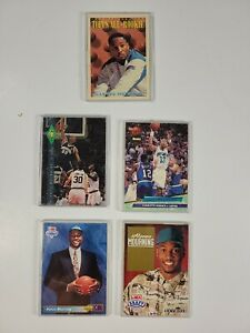 Alonzo Mourning 5 Sports Card Lot, 2 Rookies Included