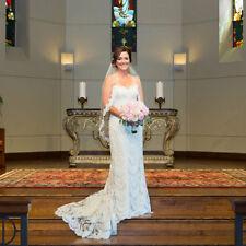 Lace Edge Bridal Veil Fingertip White Ivory Wedding Bridal Veil with Comb