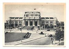 Milan Italy Postcard Central Train Station Railway Milano Stazione Centrale