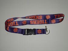 NCAA Brand New Lanyard Keychain Clemson Tigers ID Holder