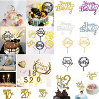 """Fashion Cake Topper """"Happy Birthday""""10th-60th Candle Party Supplies Decorations"""