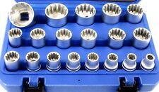 """Bergen 19pc 1/2"""" Dr Gear Lock Multi lock Sockets Socket Set 8mm - 32mm 1231 3221"""