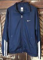 Mens NIKE Golf Jacket Blue Full Zip Wind Breaker Lightweight Sz XL