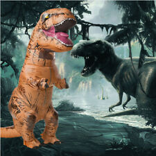 2Size Xmas T-REX Inflatable Dinosaur Costume Jurassic Dress Blowup Outfit
