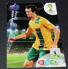 ROBBIE KRUSE AUSTRALIE SOCCEROOS FOOTBALL CARD PANINI FIFA WORLD CUP BRASIL 2014