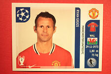 PANINI CHAMPIONS LEAGUE 2011/12 N 147 GIGGS MAN UNITED WITH BLACK BACK MINT!!