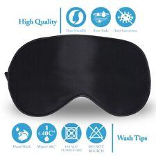 [2 Packs] Best Night Blinder Eyeshade for Men Women Kids 100% Silk Sleep Mask CA
