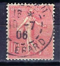 France 1903 type Semeuse lignée (2) Yvert n° 129 oblitéré 1er choix