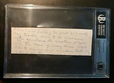Ty Cobb Handwritten Cut Letter BAS Beckett Authentic Interesting Content