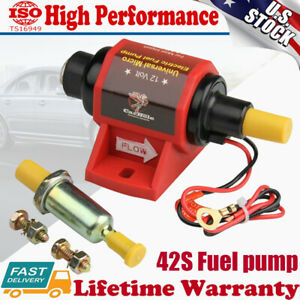 Universal Micro Electric Fuel Pump Low Pressure 2-3.5PSI 42S Polymer Gasoline